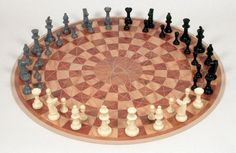 This could be a challenge! 3 Player Chess Board
