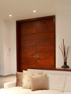 Lesser Seen Options for Custom Wood Interior Doors Contemporary Front Doors, Modern Door, Mid-century Modern, Interior Exterior, Interior Architecture, Interior Design, Door Design, House Design, Doors Galore