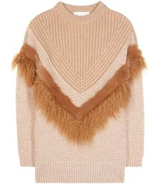 STELLA MCCARTNEY Knitted Wool And Faux Fur Sweater. #stellamccartney #cloth #fur
