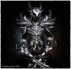 Real Man Becomes Walking Horror Inside Skyrim's Daedric Armour
