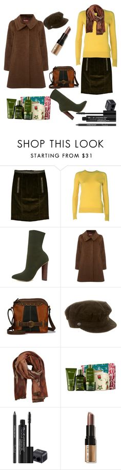 """Untitled #173"" by nooradnan ❤ liked on Polyvore featuring Burberry, Equipment, Steve Madden, MaxMara, b.o.c. Børn Concept, MANGO, Origins, Rodial and Bobbi Brown Cosmetics"