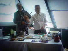 """Aprendiendo a cocinar productos el mar Cantábrico con Floren Bueyes.  """"Gastro-mar"""""""