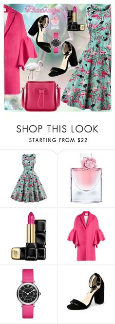 """Flamingo"" by paperdolldesigner ❤ liked on Polyvore featuring Lancôme, Guerlain, Delpozo, Marc Jacobs and 3.1 Phillip Lim"