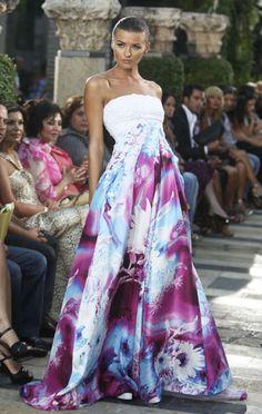 Lebanese designer Edward Arsouni collection during a fashion show in Beirut
