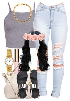 July 27, 2k15 by xo-beauty on Polyvore featuring polyvore, fashion, style, MICHAEL Michael Kors and Clarins