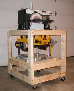 sander / planer cart - by hairy @ LumberJocks.com ~ woodworking community