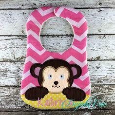 Monkey Bib Large Hoops - Dejah Vue DesignsDejah Vue Designs