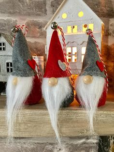 Buying these as stocking fillers! Nordic Christmas, Christmas Gnome, Xmas Ornaments, Christmas Tree Decorations, Felt Crafts, Diy Crafts, Decoration Crafts, Scandinavian Gnomes, Diy Projects To Try