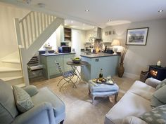 Book your holiday at Warwick Coach House - Quality self-catering accommodation in North Yorkshire Yorkshire Cottages, Unique Cottages, Flagstone Flooring, Coach House, Romantic Cottage, Wood Burner, Cottage Interiors, Downstairs Bathroom, Open Plan Living