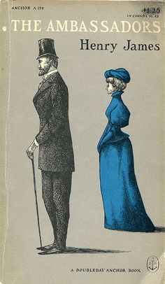 """James, Henry """"The Ambassadors""""    Cover & Typography by Edward Gorey"""