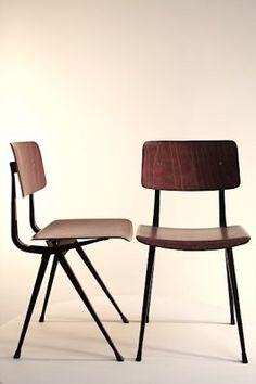 Friso Kramer schoolversie,  Result chair 5x, Industrial vintage