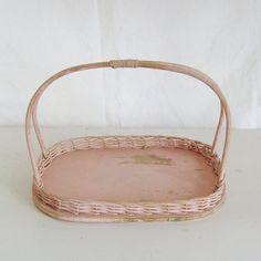 I'm into pink - wicker basket