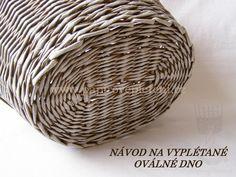 Vyplétané oválné dno - Papírové pletení
