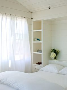 Small Master Bedroom Design with shelves