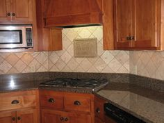 Breathtaking Tile Kitchen Countertops Ideas, You'll be amazed how much changing the countertops can make it seem as if you've had a complete kitchen remodel. Ceramic tile countertops are a few of. Travertine Tile Backsplash, Countertop Backsplash, Black Granite Countertops, Kitchen Countertops, Backsplash Ideas, Subway Backsplash, Brown Granite, Mosaic Backsplash, Subway Tile