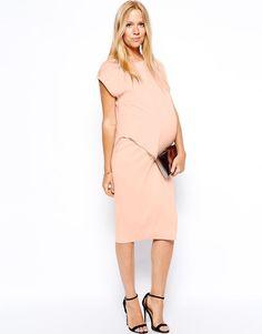 ASOS Maternity Bodycon Dress With Drape Overlay  RRP £80.00