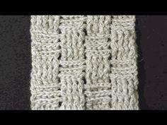Узор плетёнка крючком, схема