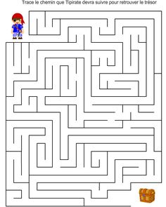 Pirate Activities, Preschool Learning Activities, Preschool Math, Math For Kids, Lessons For Kids, Science For Kids, Mazes For Kids Printable, Worksheets For Kids, Maze Book