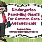 These # Kindergarten Recording Sheets are the perfect way to track and record the learning progress of your little sweeties. Includes standard and standard number...