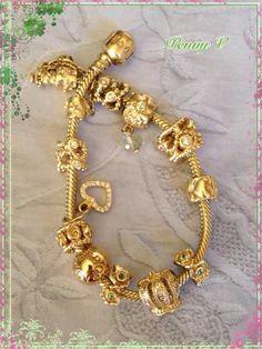 Pandora Pandora Bracelet Charms, Pandora Jewelry, Charm Jewelry, Fashion Bracelets, Fashion Jewelry, Women Jewelry, Bridal Nose Ring, Pandora Gold, Simple Jewelry