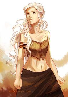 Daenerys drawed by Viria