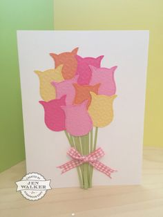 Stampin Up  Tulip #card by Jen Walker #ScrapbookExpo #WeeklyScrapper