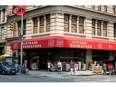 New York City's Best Indie Bookstores | Arts + Culture | PureWow New York, The Strand, Broadway at 12th St. Best Cheap Thrills