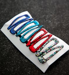 Fun Crafts To Do With Nail Polish   Best Nail Polish Crafts   DIY Projects and Arts and Crafts Ideas Using Nail Polish   Glitter Barrettes http://www.thrillbites.com/amazing-nail-polish-craft-ideas