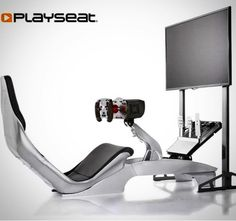 """Introducing the new Playseat @_playseat TV Stand Pro - the perfect solution for your Playseat gaming setup! Create the ultimate in-home setup for simulation racing and/or flight immersion with our newest accessory which supports all brands of TVs and monitors up to 50"""" and VESA supports - expandable to 3 5 or even 7 screen setups with the Playseat TV Stand Pro 3S accessory kit (sold separately) - available now worldwide!! #expandyourmind #virtualreality #simulator #bringithome #sony #samsung…"""