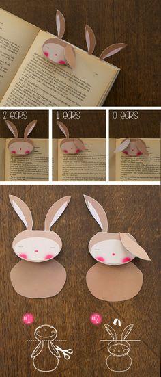 El hada de papel: Free printable rabbit, bunny, Bookmark