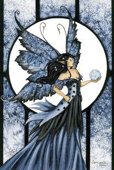 Amy Brown Captured Moon Fairy Postcard
