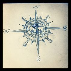 navy compass tattoos - Google Search