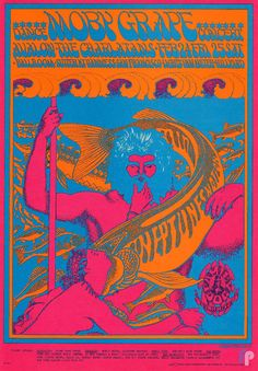 Moby Grape at Avalon Ballroom 2/24-25/67 by Victor Moscoso