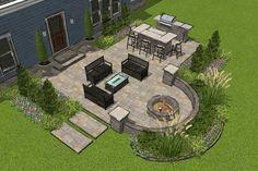 Small Patio Design, Outdoor Patio Designs, Small Backyard Landscaping, Backyard Ideas, Backyard Pools, Diy Patio, Paver Patio Designs, Back Yard Design, Backyard Landscape Design