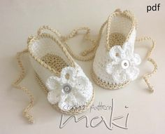 Crochet pattern baby booties ballerina  Perfect for by MakiCrochet, $3.00