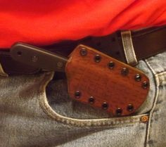 "Cross-draw setup for Becker BK14 knife in a The 710 Custom Sheath (link in ""Visit"" button below this pic)."