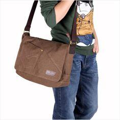 Canvas bag casual shoulder bag messenger bag student school bag on eBid United Kingdom