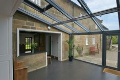 glass lean-to conservatory Lean To Conservatory, Conservatory Extension, Conservatory Kitchen, Conservatory Ideas, House Extension Design, Glass Extension, House Design, Extension Ideas, Smart Home