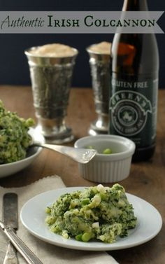 Irish Colcannon paired (of course) with a #GlutenFree Green's Dubbel Dark Ale