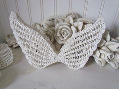 Angel Wings | Summer Sale Crochet Angel Wings. Set of 6 Creamy White Wings