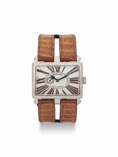 Roger Dubuis. An unusual 18K white gold limited edition rectangular wristwatch. circa 2006. #watch