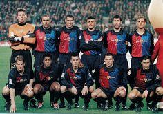 BARCELONA 1999. De pie, de izquierda a derecha: Hesp, Aberlardo, Rivaldo, Luis Enrique, Guardiola y Ronald de Boer. Agachados en el mismo orden: Frank de Boer, Kluivertm Cocu, Sergi y Figo.