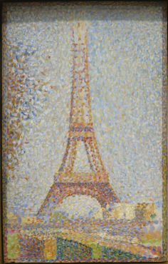La Tour Eiffel (The Eiffel Tower) - Georges Seurat Georges Seurat, Eiffel Tower Painting, Eiffel Tower Art, Dot Painting, Painting Prints, Art Prints, Seurat Paintings, Poster Art, Vintage Poster