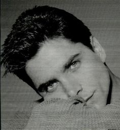 John Stamos, Tio Jesse, Beautiful Boys, Gorgeous Men, Singer Tv, How To Look Handsome, Full House, Portrait Inspiration, Black And White Pictures