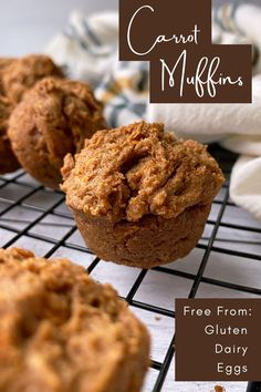 This homemade Carrot Muffin recipe is gluten free, grain free, dairy free, nut free, and refined sugar free; making it perfect for anyone following a Paleo and/or Vegan diet. In addition, these healthy mini muffins are fluffy, moist, and dense. Perfect for snacking! #minimuffins #vegan #glutenfree Healthy Carrot Muffins, Paleo Carrot Cake, Carrot Cake Muffins, Healthy Vegan Breakfast, Best Carrot Cake, Mini Muffins, Healthy Snacks, Gluten Free Snacks, Gluten Free Breakfasts