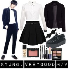 Block B's Park Kyung 1. by ysh-r on Polyvore featuring ONLY, Lanvin, Gucci, NARS Cosmetics, Lord & Taylor, Estée Lauder, MAC Cosmetics and Givenchy