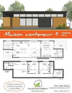 21 meilleures images du tableau maison container home plans house template et house floor plans. Black Bedroom Furniture Sets. Home Design Ideas