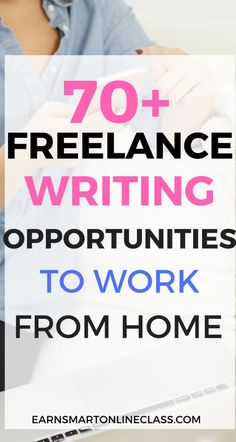 Get Paid to Write: 70 Freelance Writing Jobs for Beginners - Earn Smart Online Class Get Paid to Write: 70 Freelance Writing Jobs for Beginners. Choose the best freelance writing jobs for beginners at home! Get paid to write at content mills Job Freelance, Freelance Writing Jobs, Freelance Online, Make Money Writing, Writing Tips, How To Make Money, Article Writing, Writing Programs, Writing Resources