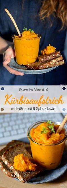 Essen im Büro #16 - Kürbisaufstrich mit Möhre und Five Spice Seasoning [vegan]