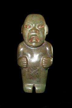 Olmec jade figure, Mexico, circa: 900 - 500 BC.